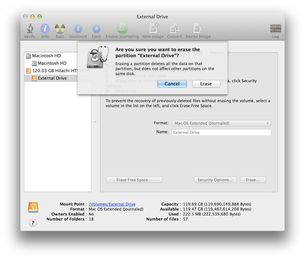 Disk Utility Is More Than Adequate To Perform Any Form Of Disk Management  For Most Users It's Also Safer Than Themandline, Displaying Warning  Dialogs