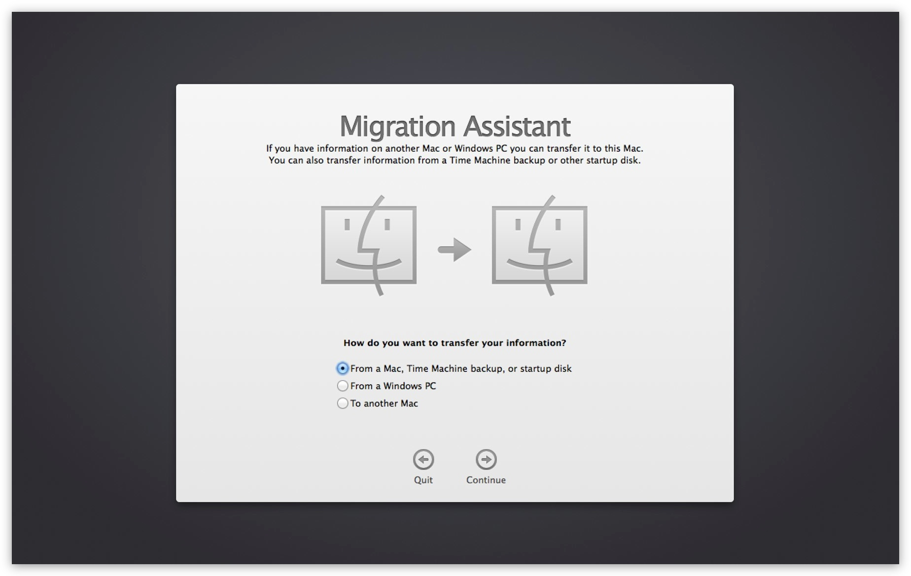 Migration Assistant can transfer all the data from one Mac to another