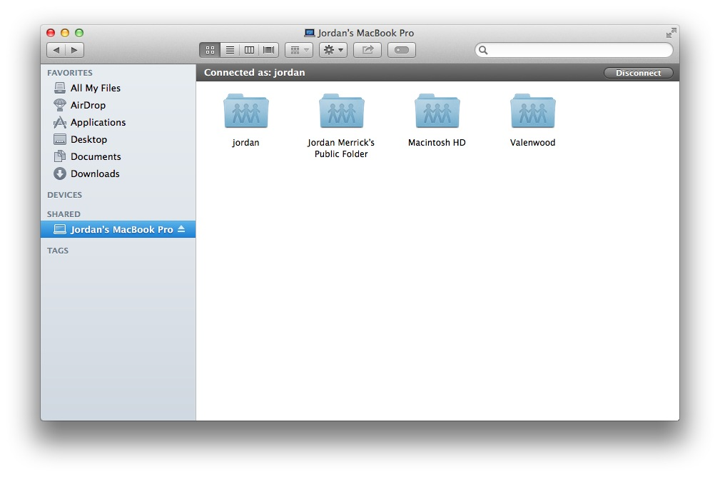 Bonjour offers zero-configuration network discovery so both Macs will find each other automatically