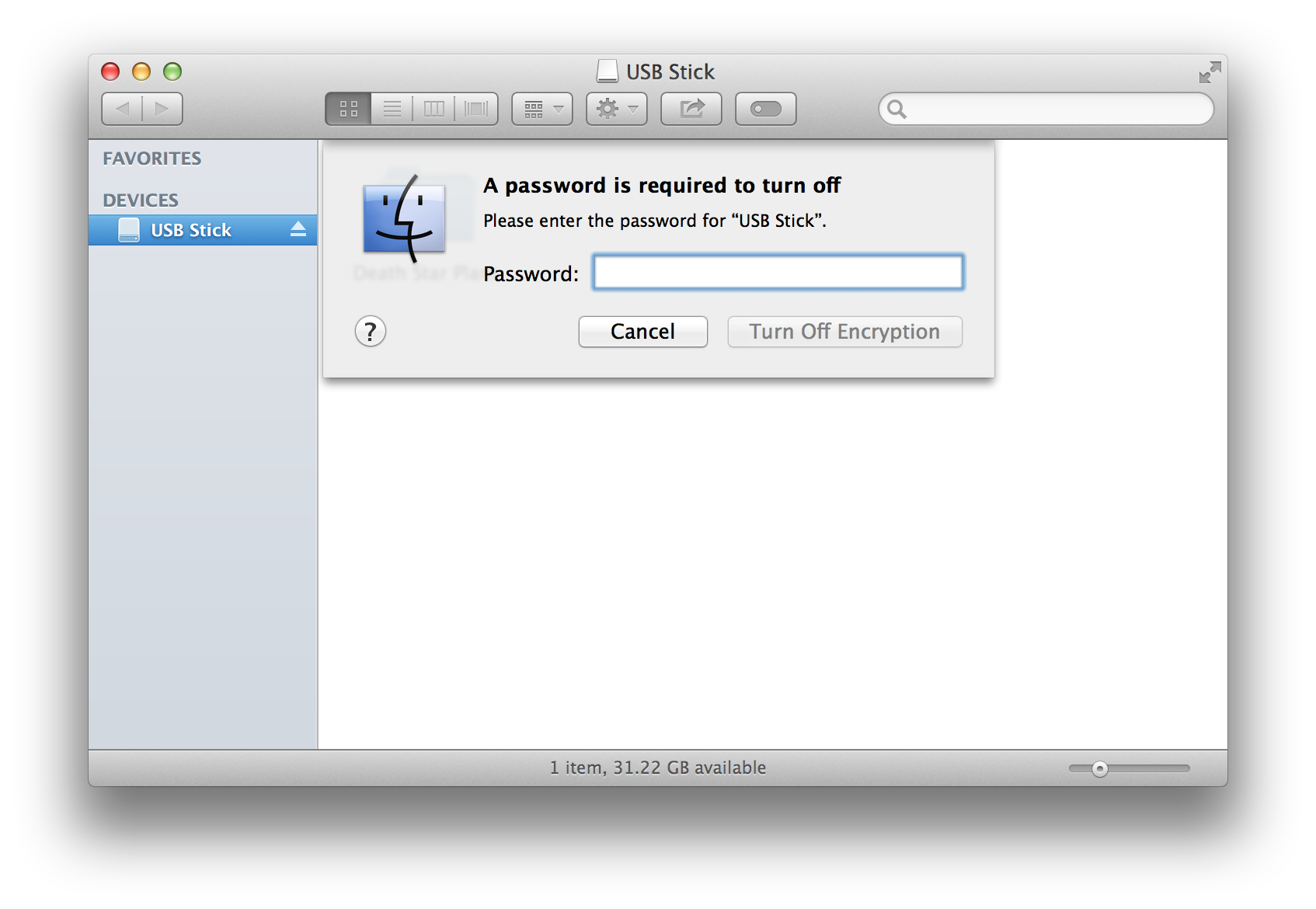 Encrypt an External Disk or USB Stick with a Password - The