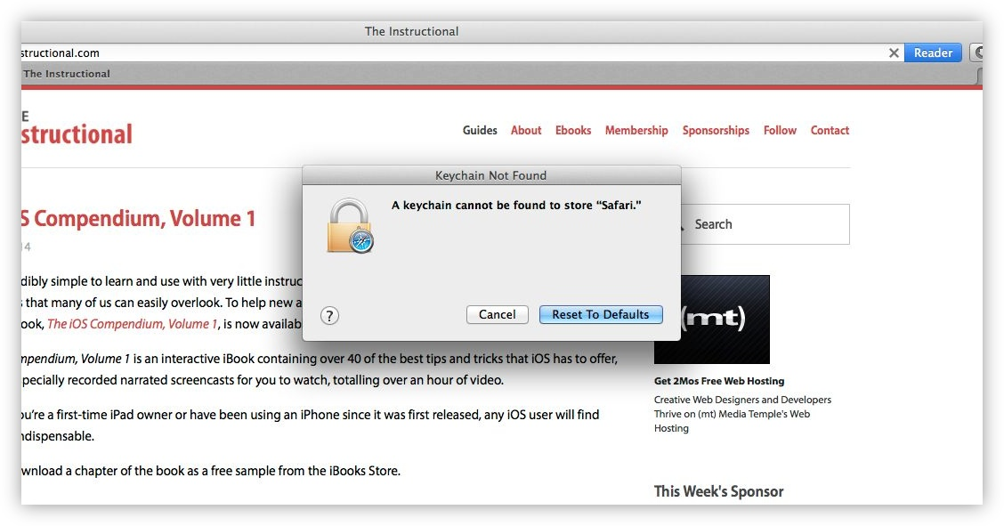 Reset Your OS X Password Using Your Apple ID - The Instructional